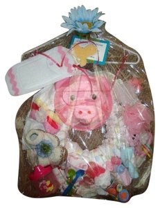 Other 39pc Kidz Couture Girl's Little Piggy Diaper Wreath