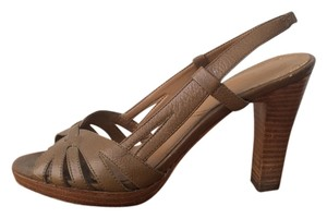 Tahari Tan Leather Sandals