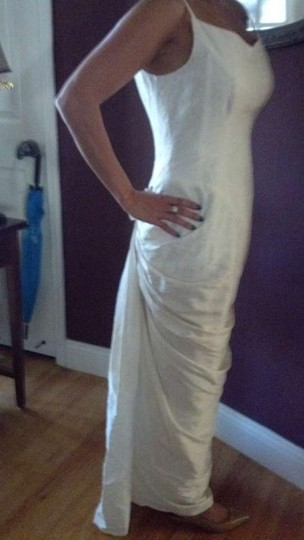 Preload https://item1.tradesy.com/images/ivory-polyester-style-vintage-wedding-dress-size-4-s-363545-0-0.jpg?width=440&height=440