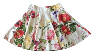 Roberto Cavalli Italian Floral Skirt Multi Color