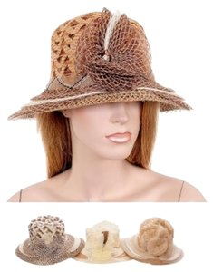 Other Herringbone Pattern Rosette Bucket Beach Hat