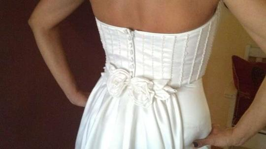 White Polyester Modern Wedding Dress Size 4 (S)