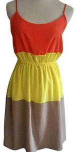 Soprano short dress Summer Spaghetti Straps Color-blocking on Tradesy