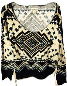 Ralph Lauren Boxy Boho Indian Pattern South Fringe Drop Sweater