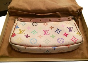 Louis Vuitton Pochette White Multicolor Clutch