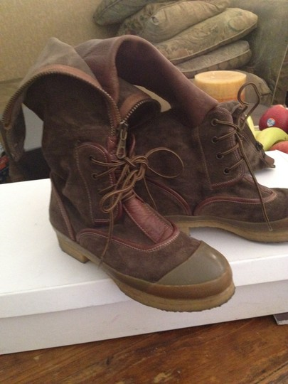 Chloé dark olive green and some brown Boots