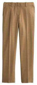 J.Crew Skimmer Wool Blend Ankle Brown Nwt Capri/Cropped Pants Camel