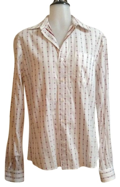 Item - White/ Red Detail By Sparrow S) Button-down Top Size 6 (S)