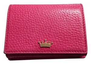 Elaine Turner Elaine Leather Business Card Wallet Wristlet in Pink