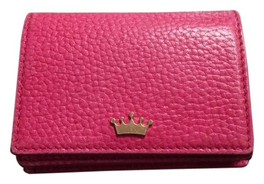 Elaine Turner Leather Business Card Wallet Wristlet in Pink
