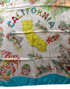 Vintage California Silk Scarf