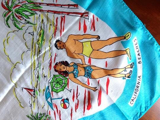 Other Vintage California Silk Scarf Image 1