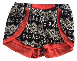Costa Blanca Shorts Black, White And Orange
