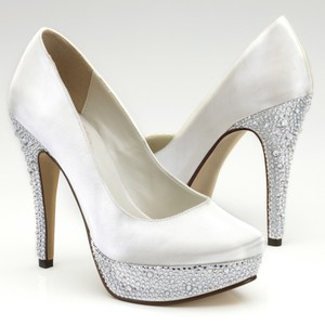 PINK Bedazzle Wedding Shoes