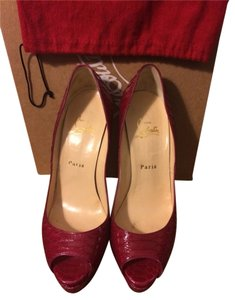 Christian Louboutin Cranberry Pumps