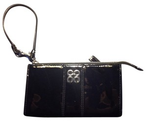 Coach Julia Patent Leather Patent Wristlet in Black