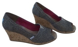 TOMS brown/beige Wedges