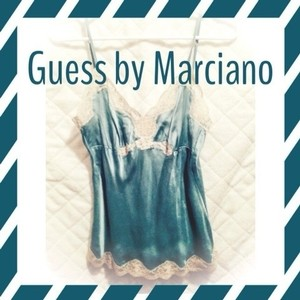 Guess By Marciano Top Teal/blue