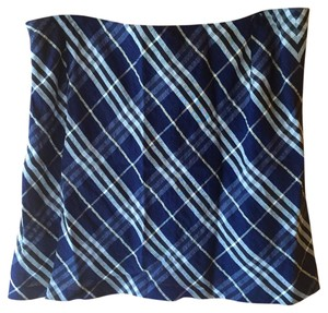 Burberry London Mini Mini Skirt Navy plaid blue multi