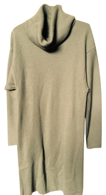Preload https://img-static.tradesy.com/item/3637714/olive-cowl-neck-sweater-mid-length-workoffice-dress-size-10-m-0-2-650-650.jpg