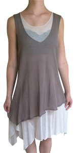 Sarah Pacini short dress Grey Flowy Summer on Tradesy
