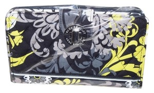 Vera Bradley NWT Baroque Vera Bradley Turn lock wallet Black gray yellow