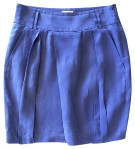 Brunello Cucinelli Linen Skirt Purple