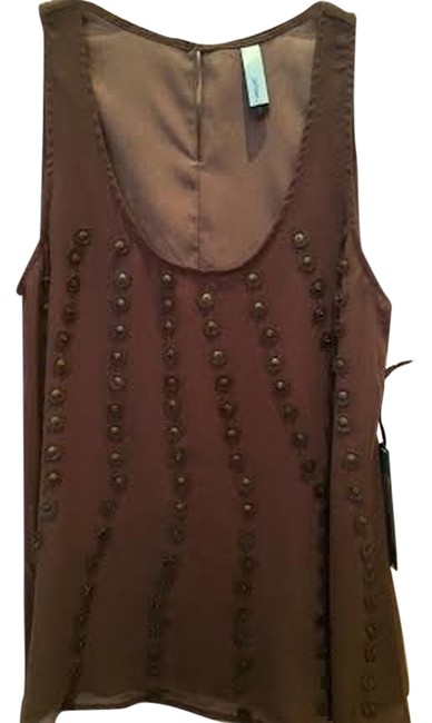 Jaloux Beaded Top Mocha