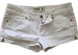 PINK Victoria's Secret Denium Mini Mini/Short Shorts White