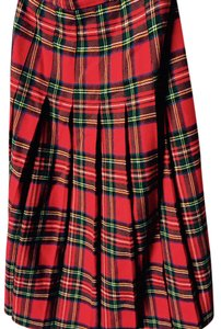 Vintage Scottish Kilt Wool Plaid Scotland Tartan Stewart Skirt Stewart Plaid