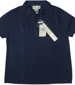 August Silk T Shirt Blue