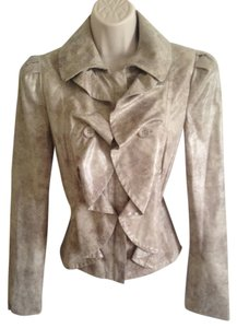 INC International Concepts Ruffle Tan Brown Jacket