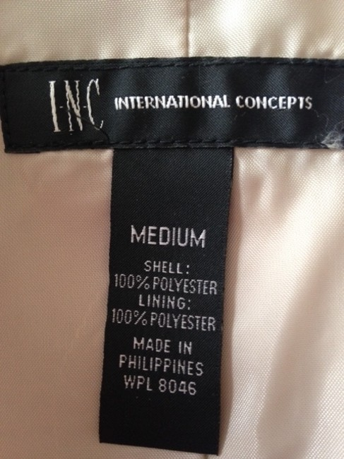 INC International Concepts Ruffle Tan Brown Jacket Image 5
