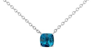 Blue Nile RESERVED FOR SUNNY DAY Tiffany Look Blue Nile London Topaz 16 inch Sterling Silver Necklace