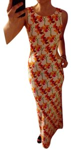Orchid print open back Maxi Dress by Escada