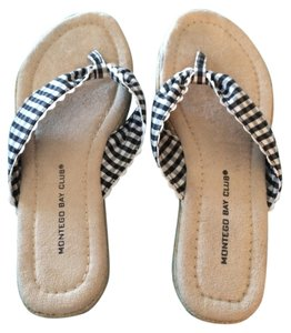 Montego Bay Club Black and White Checkered Sandals