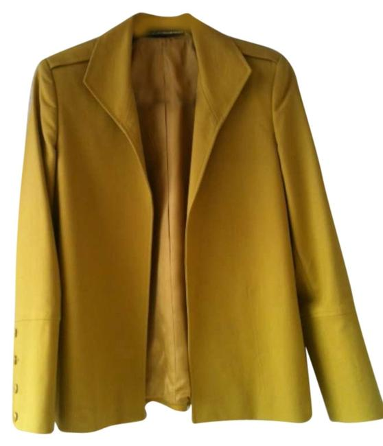 Ellen Tracy Yellow Mustard Blazer