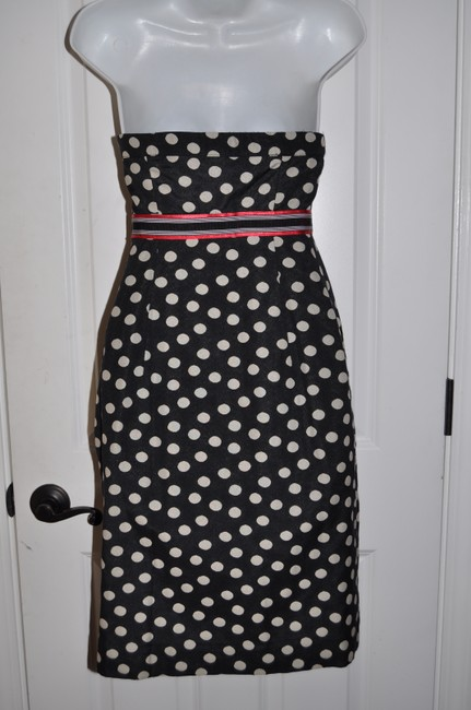 Maeve short dress Navy & White Polka Dot Retro Rockabilly Sailor Nautical Wiggle Hourglass Pencil on Tradesy