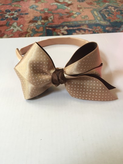 Other Polka Dot Taupe Bow Headband