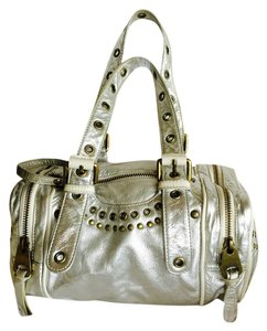 Marc Jacobs Satchel in Silver metallic