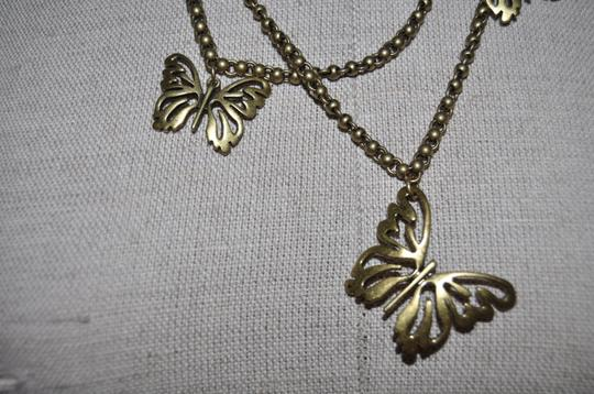 Fossil Fossil Multi Strand Butterfly Statement Necklace