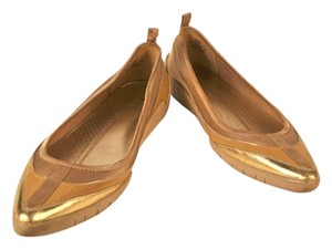 Cole Haan Nike Air Metallic Patent gold Flats