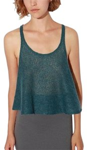 Urban Outfitters Renewal Curatorial Knit Cropped Sweater Top Blue