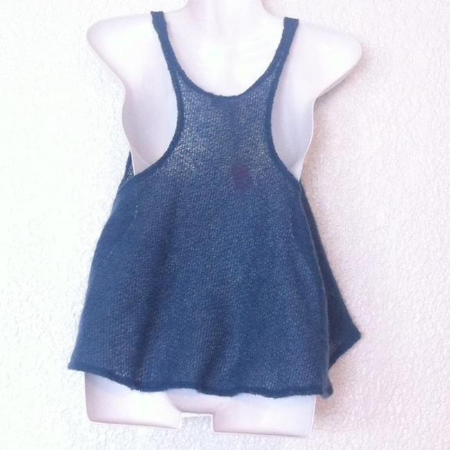 Urban Outfitters Renewal Curatorial Knit Cropped Sweater Top Blue Image 2