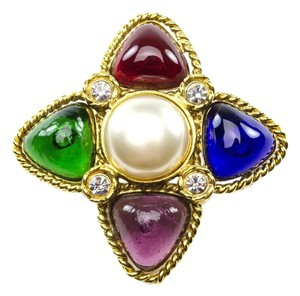 Chanel Chanel Vintage Poured Glass Brooch