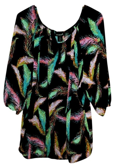 Lane Bryant Polyester Plus-size Evening Top Multi-colored