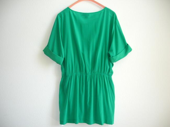 DKNY short dress green Dolman Short Cinched Mini on Tradesy