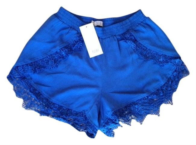 Tobi Lace Trim Mini/Short Shorts Blue