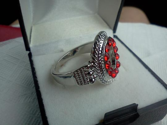 Other Silver ring with red stone's size 8