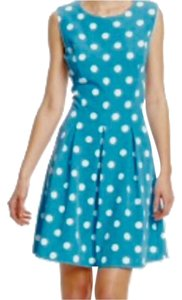 I le short dress Turquoise & White on Tradesy
